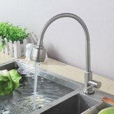 Bürste 304 Edelstahl Küche 360 ° Kaltwasser Schwenkauslauf Einhand Waschbecken Wasserhahn Pull Down Spray Mixer Tap