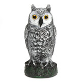 Plastic Standing Fake Owl Hunting Decoy Deterrent Scarer Repeller Garden Decor