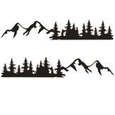 200x34 cm Sticker Grafische Decal Besneeuwde Bergketen Voor Camper Camper Auto Caravan Boot