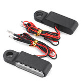2PCS ÂMBAR Mini Guiador da bicicleta da motocicleta Montagem LED Turn Signal Indicators Light