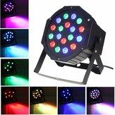 SOLMORE 18 W DMX-512 RGB LED Par Stage Iluminação Festa DJ Disco KTV Natal Projetor Luz AC110-220V