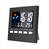 Temperatur Feuchtigkeit Wecker Digital Lcd Wetter LED Display Kalender Timer