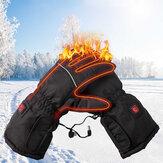冬の電気加熱手袋タッチスクリーン3モデル調整サーマルハンドウォーマーバッテリー駆動のオートバイレーシングスキー手袋