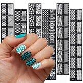 Многоразовые полые штамповки ногтей шаблон художественное оформление трафарет наклейка