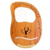 Přenosná mahagonová harfa CEGA 16 Tone Lyar