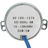 8Pcs AC100-127V 4W 15-18RPM Turntable Synchronous Motor Robust 50/60Hz
