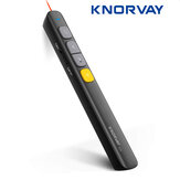 KNORVAY N29 Apresentador sem fio RF 2.4GHz Controle Remoto Página PPT Turning Pen 650nm Red Laser Pen