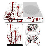 Bloody Skin Decals Stickers Cover for Xbox One S Game Console & 2 Controllers