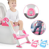 Children's Toilet Ladder Environmental PP Material Collapsible Baby Toddler Potty Training Toilet Chair Seat