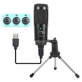 Bakeey K1 Condenser Microphone Suit USB Radio Recording KSong Gaming Live Streaming Broadcast Mic for Computer PC Laptop Tablet