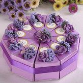 10 chiếc bánh kẹo Hộp quà cưới Tiệc cưới Bánh sô cô la ngọt ngào Hộp quà