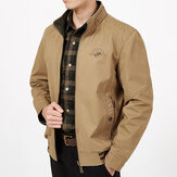 Mens Ukuran Besar Jaket Double Wear Stand Collar Outdoor Cotton