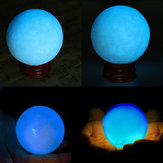50mm Blue Glow In Dark Stone Bercahaya Pearl Quartz Crystal Sphere Ball Night Pearl