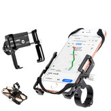 GUB P10 55-100mm Width 3.5-6.2inch Phone Holder with Silicone Strap Mount Bracket Handlebar Clip Stand For Cycling