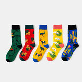 Unisex Animal Series Pattern Colorful Patchwork Color Cute Tube Socks