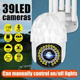 Guudgo 1080P 39 LED Câmera IP PTZ Externa Áudio bidirecional Câmera Wifi Auto à prova d'água Visão Noturna Vigilância CCTV Vídeo