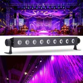 9x3W UV LED Bar Luz Blacklight DJ Club Party Decoración de Pared de Halloween Lámpara AC100-240V