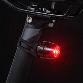 Fanale posteriore per bici in lega di alluminio 2 modalità USB Ricaricabile IP44 Avviso impermeabile LED Luce notturna per bici Ciclismo all'aperto