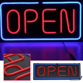 24''X12'' 60x30cm LED Neon Open Sign Light Shop Store Bar Cafe Business Advertising Lamp AC100-240V