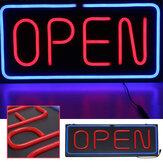 24''X12 '' 60x30cm LED Neon Open Sign Light Winkel Winkel Bar Café Zakelijke reclamelamp AC100-240V