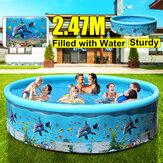 125/155/186/247 cm Einziehbarer aufblasbarer Pool Große Familie Sommer Outdoor Spielparty Zubehör für Kinder Erwachsene