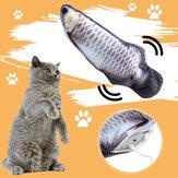 12 inç USB Sallama Kedi Elektrikli Balık hareketi Kedinip Peluş Simülasyon Balık Kedi Oyuncak