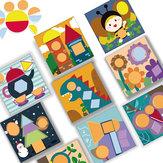 Tangram Bilmecenin Oyuncak Entelektüel Gelişim Ahşap Çocuk Erken Eğitim Anaokulu Değiştirilebilir Yaratıcı Erkek ve Kız Hediyeler