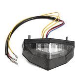 LEDランニングストップブレーキライセンスプレートテールライトオートバイスモークランプ