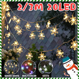 2M 3M LED Fata di fiocchi di neve String Light Indoor Home Party Decorazione dell'albero di Natale lampada