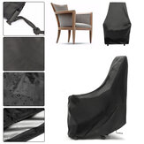 IPRee® 89x89x89cm 190T Polyester Waterproof Single Wicker Chair Cover Outdoor Furniture Protection