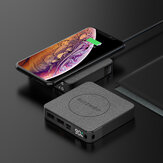 BlitzWolf® BW-P13 LED Display 10000mAh Power Bank QC3.0 & PD3.0 18W+15W Wireless Charger Fabric Surface Multilayered Protection Power Bank for iPhone 11 Pro Max for Samsung S20 9T Note10 HUAWEI LG