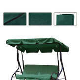 2/3 Seater Size Green UV-Proof Outdoor Garden Patio Swing Sunshade Cover Waterproof Canopy Seat Top Cover