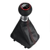 Gałka zmiany biegów 5/6 ze stuptutem osłona bagażnika czarny z czerwonym pierścieniem dla Audi A3 S3 1996-2003