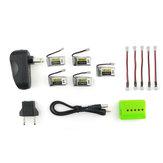 Collezioni 5Pz Eachine E010 E010C E011 E013 3.7V 260MAH 45C LIPO Batteria e Caricabatterie