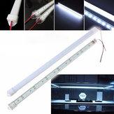 50CM 8520 SMD Cool White LED Rigid Strip Aluminum Milk/Clear Case Tube Light Lamp DC12V