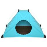 البربرية الصوف للطي خيمة الحيوانات الأليفة قابل للغسل جرو القط لعب تيبي حصيرة الكلب القط وسادة النوم