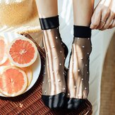 Women Summer Thin Breathable Middle Tube Socks