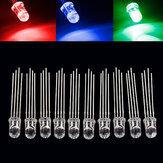 50db 5mm-es színes LED RGB közös anód négy láb átlátszó kiemelés színes fény 5mm-es dióda színes