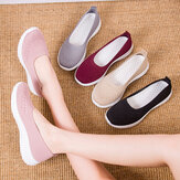 Frauen Mesh Breathable Easy Slip On Lazy Casual Flache Wanderschuhe