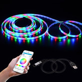LUSTREON 45CM Max 45W USB Mini 4 Pin LED RGB Bluetooth Strip Light APP Controller DC5V
