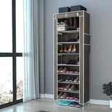 Zapatero de 10 niveles con cubierta a prueba de polvo Armario Armario de zapatos Organizador
