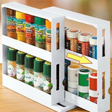 Multi-Function Storage Rack Seasoning Spice Tarro Rack Rotating Kitchen Organizador