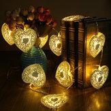 10 đèn LED Giáng sinh Tình yêu Trái tim Chuỗi ánh sáng Trang trí cửa hàng