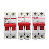 Delixi® DZ47S-2P / c AC 400V 10/20 / 32A 2P Interruptor de circuito de plástico Interruptor de circuito en miniatura