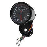 Universal Motocicleta LED Odometer Velocímetro Speedo Tachometer Gauge