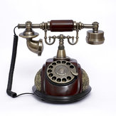Vintage Antique Style Rotary Phone Fashioned Retro Handset Old Telephone Home Office Decor
