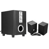 SADA D-200T Home Laptop Audio Multimedia Mini Luidspreker USB AUX Audio 2.1 Subwoofer bluetooth5.0 Bedraad 3,5 mm Hout Zwart