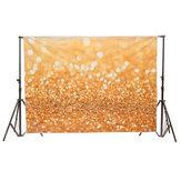 7x5ft 2.1x1.5m Vinyl Golden Glitter Sequin Theme Photography Backdrop Photo Studio Background