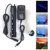 12V 1.2W 6 LED Bleu Air Bubble Light Under Water Submersible Aquarium Fish Tank Lamp Decor