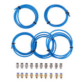 5pcs Blue PTEF Tube + 10Pcs PC4-M6 Connector + 10Pcs PC4-M10 Connector Kits for 3D Printer Parts